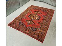 Beautiful Hand-made Persian 'Vis' Rug Carpet 100% WOOL