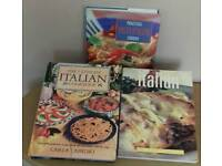 THREE ITALIAN COOK BOOKS.