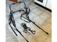 Bicycle Carrier for transporting 2 or 3 bikes on back of a Hatchback Car