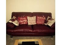 1 large, 1 small 2 seater sofas for sale
