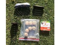 Bird feeders & food, fat balls & suet block