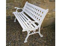 Garden Bench. ( Heavy iron vintage bench. )