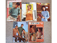 5 vintage 1970s-1980s Patons knitting pattern leaflets. Happy to post. £4 ovno lot/£1 each.