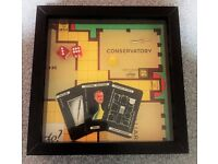 Handmade retro 'Game Frames' - Trivial Pursuit, Monopoly, Cluedo and Risk.