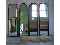 Cheval Mirror /Antique Mirror/ Mahogany Mirror/ Queen Anne Mirrors Wanted