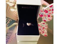 Genuine Pandora Silver S925 ALE Puffed Heart Charm.