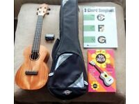 Tanglewood Suprano Ukulele TU3 with Gig Case, Tuner and Song Books