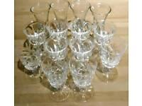 Cut glass Sherry/Liquor Glasses. Joblot