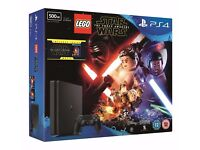 PS4 Slim 500GB with LEGO Star Wars Game and Blue Ray NEW SEALED