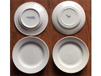 WHITE SIDE PLATES 8 IN TOTAL HOTEL STANDARD