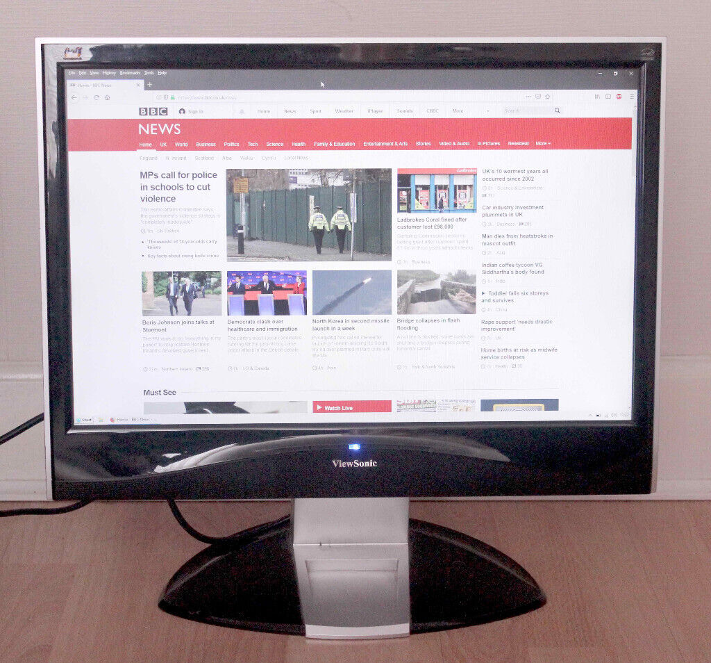 Viewsonic 22 inch Widescreen LCD Monitor | in Southside, Glasgow | Gumtree