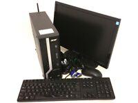 "Acer veriton X2631G Intel Core i3-4130 4th Gen WiFi 3.40GHz 4GB Ram 500GB HDD PC Computer 19"" Monit"