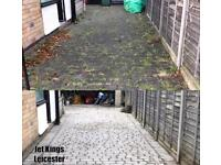 Driveway & Patio Cleaning Leicester Weed Moss & Algae Removal Pressure Jet Washing Service