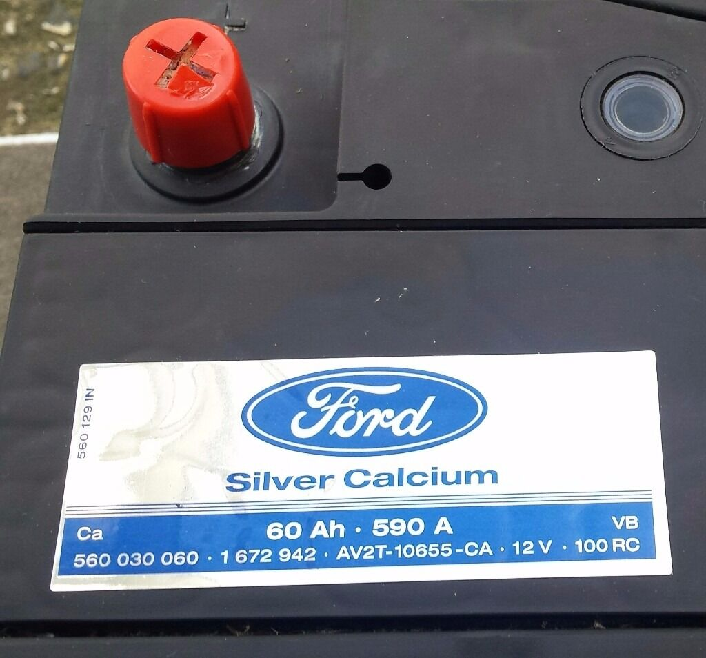 genuine ford silver calcium 60ah 590a car battery in goring by sea west sussex gumtree. Black Bedroom Furniture Sets. Home Design Ideas