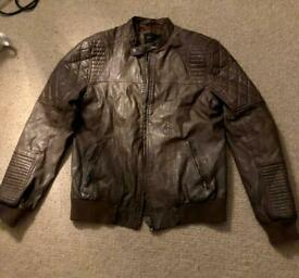 Men's faux leather jacket - Medium
