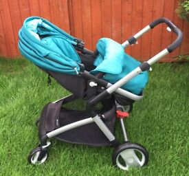Mothercare roam aqua travel system, baby carrier