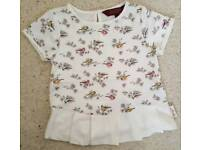Ted Baker baby girl top age 12-18 months