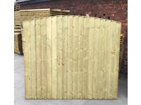 🌲 Wooden/ Timber Arch Top Close Board Heavy Duty Fence Panels 🌲