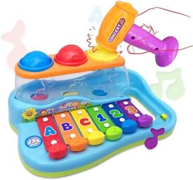 Wholesale 18 M+ Baby Toy Enlighten Xylophone with 3 Color Balls/Hammer (12 Units, £6.25/Unit)