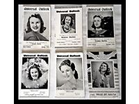 DEANNA DURBIN UNIVERSAL OUTLOOK MAGAZINE. FULL SET OF SIX. RARE, 1940 & 1941. OFFERS CONSIDERED