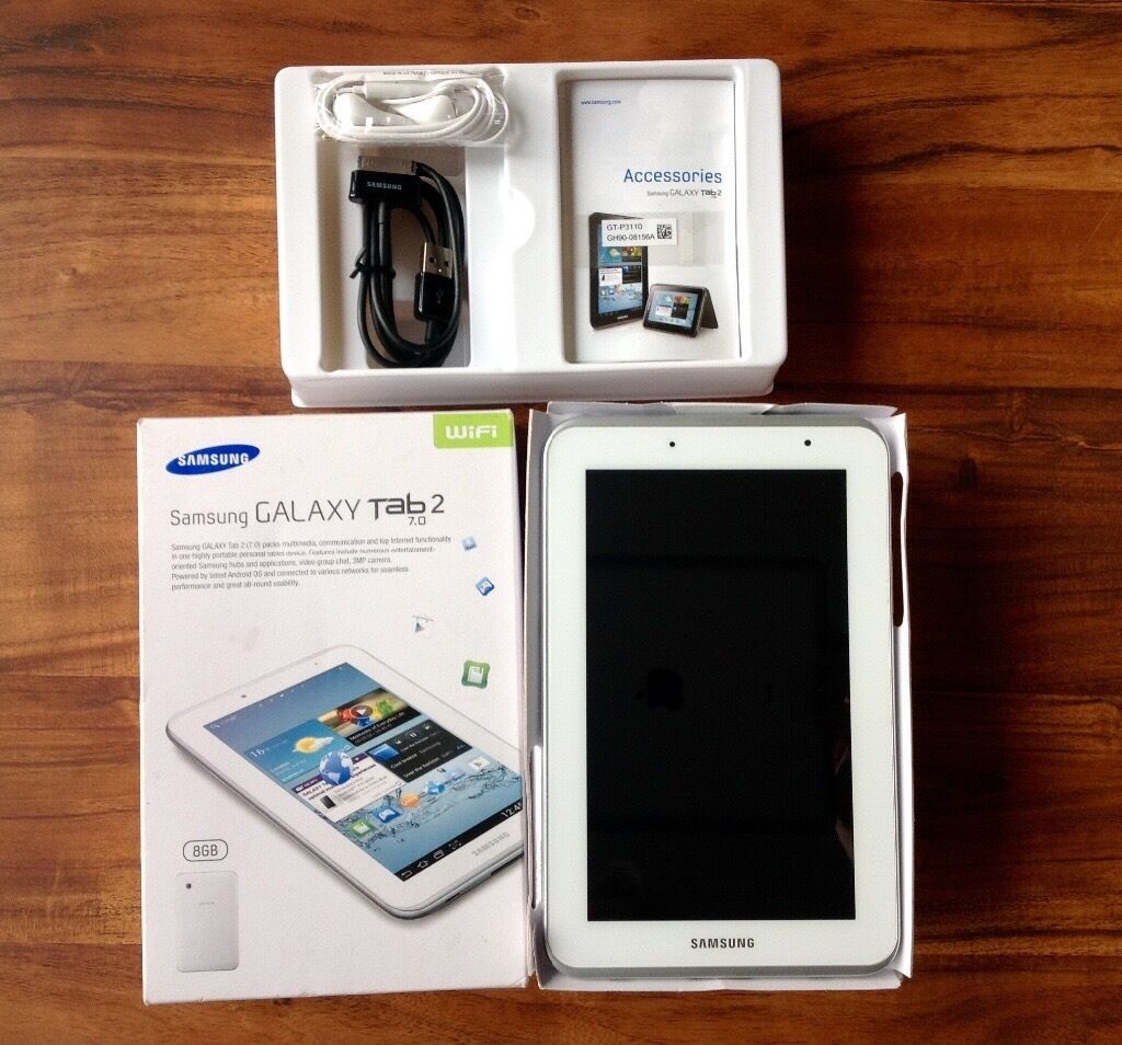 SAMSUNG GALAXY TAB 2 (7.0) EXCELLENT CONDITIONin Kinross, Perth and KinrossGumtree - SAMSUNG GALAXY TAB 2 (7.0) 8GB This tablet is in excellent condition as hardly used!! No marks on screen or back of the tablet. Welcome to view