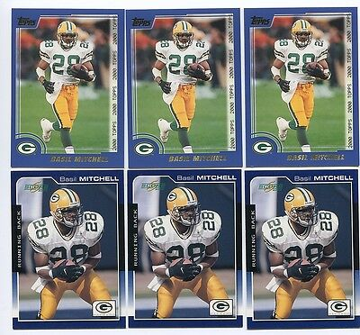 Basil Mitchell 6 card lot TCU Horned Frogs/Green Bay Packers ()