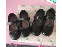 2x pairs of size 1 M&S girls school shoes