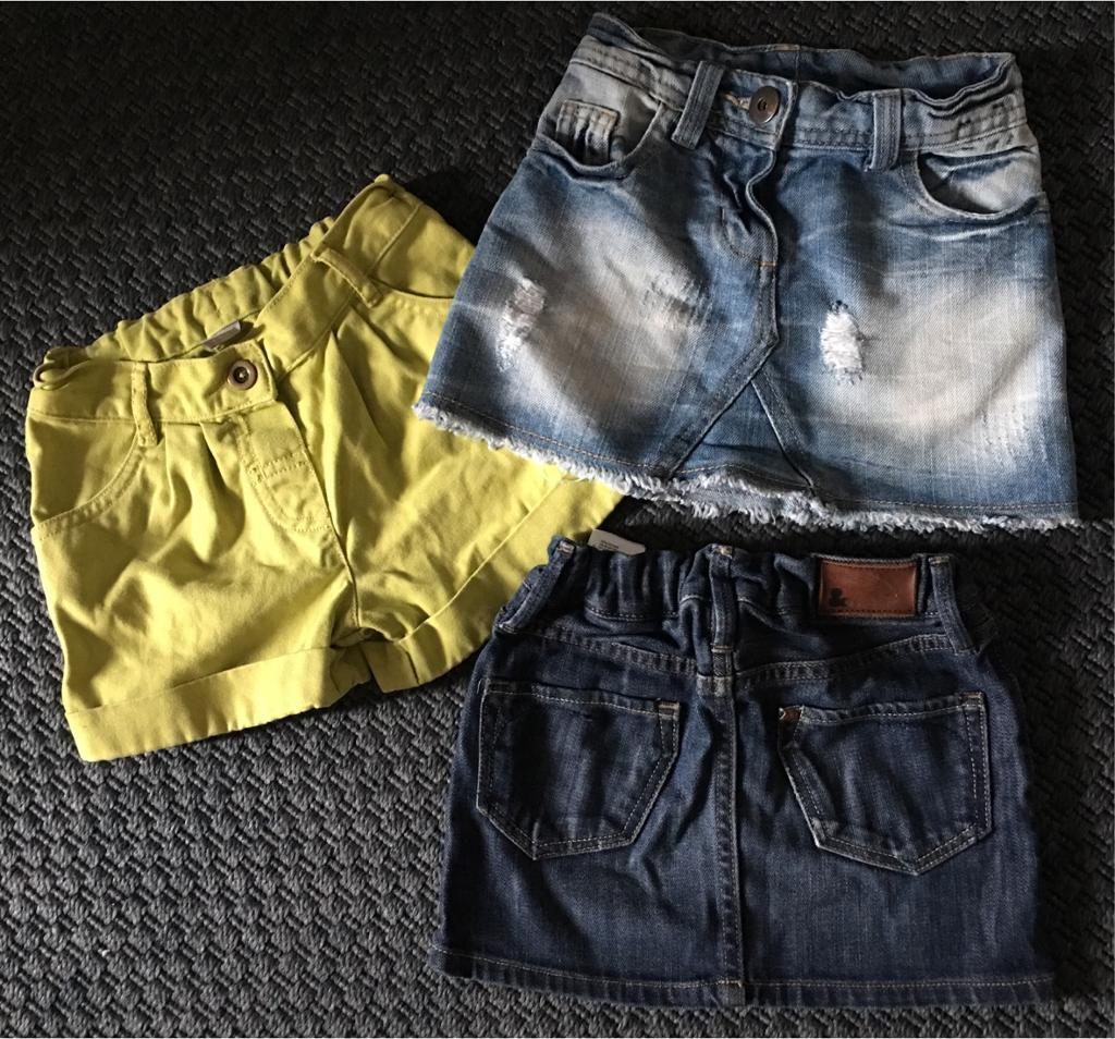 Next, H&M, TU denim skirt short trio 3-4 years