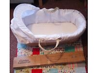 Moses basket with stand (never used)