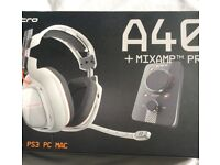 Astro A40 Gaming Headset with Mix Amp Gen 2/Great Condition/ RRP-£175