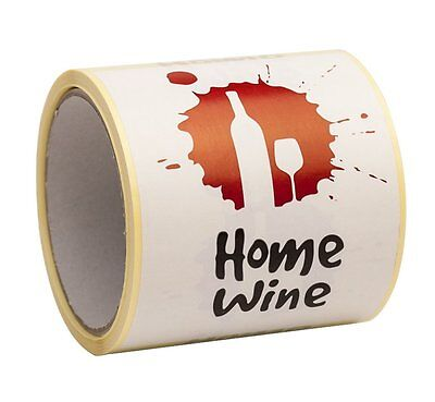 Wine Labels For Home Brew Wine Making- Peel And Stick Large Size 9 x 12cm - Pack