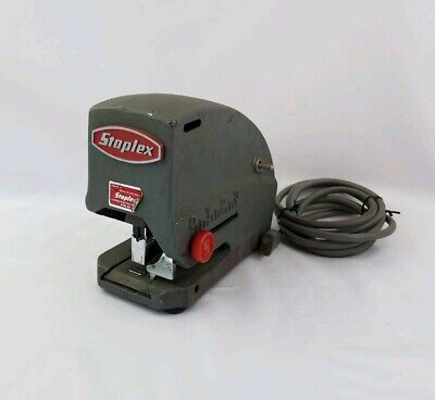 Vintage Staplex Sjm-1 Heavy Duty Electric Stapler Type D5 Hard To Find Tested