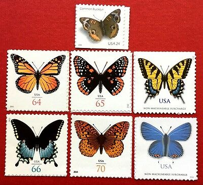 US BEAUTIFUL BUTTERFLY STAMPS SC 4001B 4462 4603 4736 4859 4999 5136