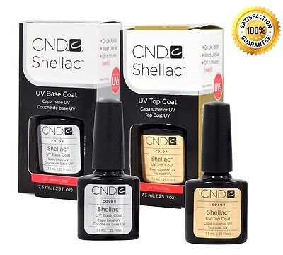 CND Shellac Top Coat, Base coat and Duo .25oz - Choose Brand New BEST