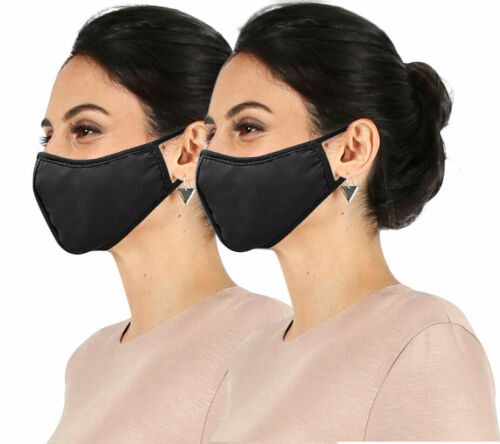 2 Pack Reusable Fabric Face Protection Anti Dust Washable - Made in USA