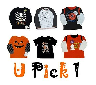 Little Boy Ghost Costume (HALLOWEEN SHIRT LONG SLEEVE SKELETON GHOST PUMPKIN TOP TEE COSTUME LITTLE BOYS)