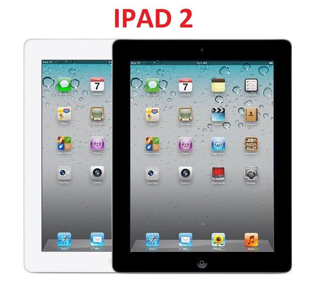 """Ipad 2 - Apple iPad 2nd Generation 16GB 32GB 64GB Black White 9.7""""  WIFI Tablet"""