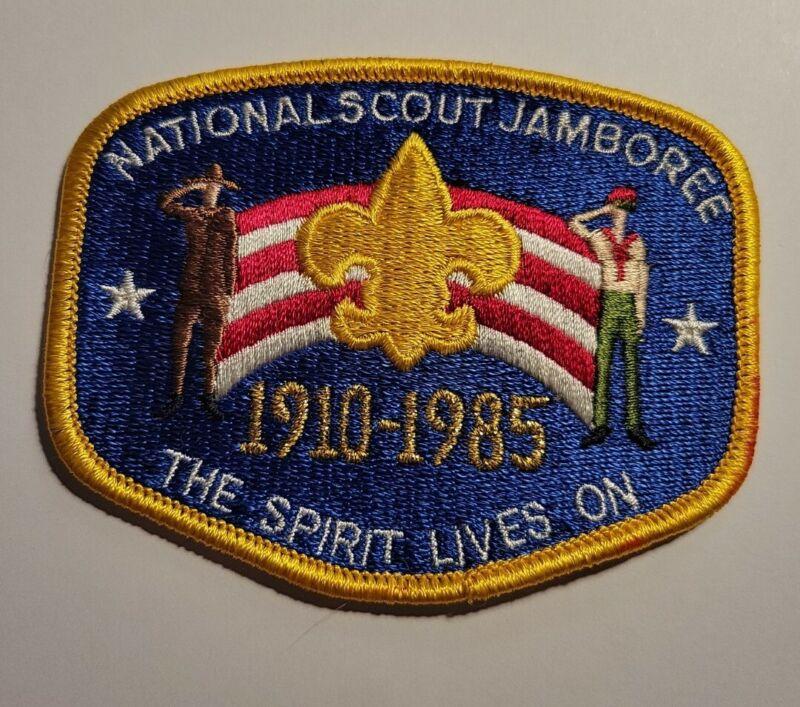"1985 NATIONAL SCOUT JAMBOREE BOY SCOUT POCKET PATCH ""THE SPIRIT LIVES ON"""