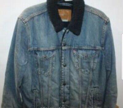 Levi Sherpa Denim Fleece Jacket L