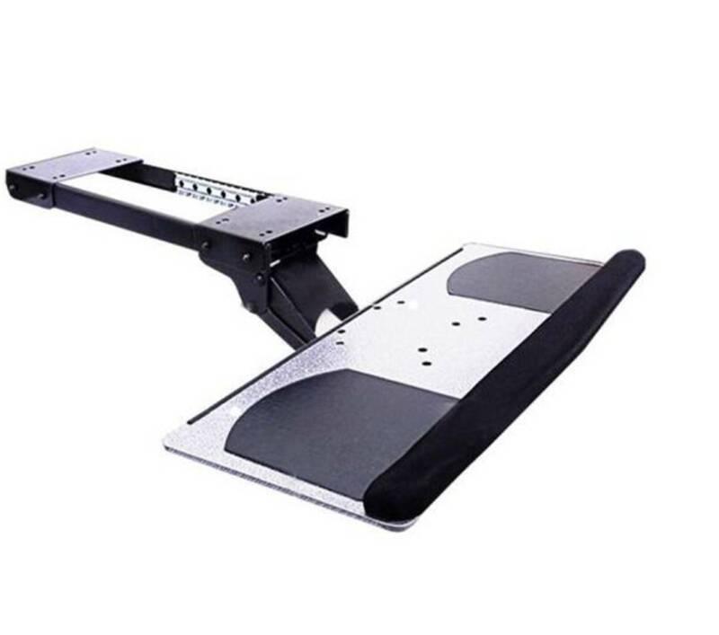 Adjustable Keyboard Tray Ergonomic Design Under Desk Mount w