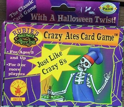 CRAZY ATES HALLOWEEN PARTY CARD GAME LIKE CRAZY 8'S BACON AND LEGS, FRENCH - Crazy Halloween Party Costumes