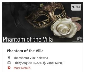 Phantom at the Villa Tickets - The Vibrant Vine Kelowna