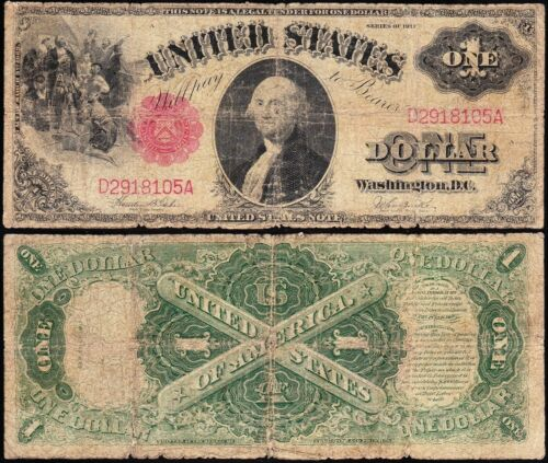 1917 $1 SAWHORSE Legal Tender US Note! FREE SHIPPING! D2918105A