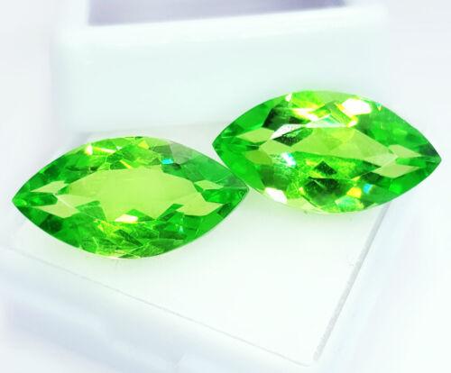 Loose Gemstone Natural Peridot Pair 8.00 To 10.00 Ct Certified