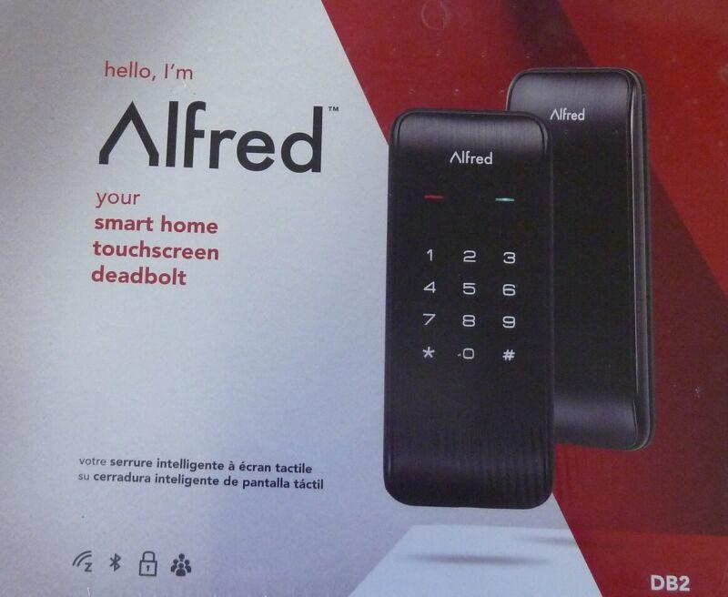 Alfred DB2 Smart Home Touchscreen Deadbolt Lock Black Network Ready New!