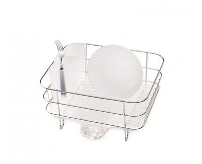 simplehuman compact wire frame dish rack, stainless
