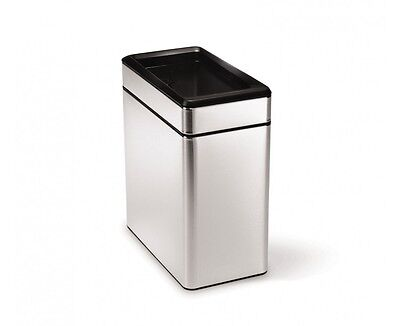 simplehuman Profile Open Trash Can, Stainless Steel, 10 L /
