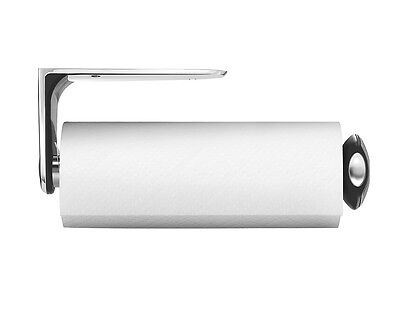 Simplehuman, Kitchen Roll Holder, Long Wall Mount, Brushed Steel, KT1024