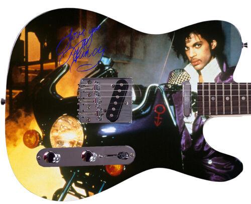 Prince Autographed Purple Rain Album Cover LP DVD CD Photo Guitar