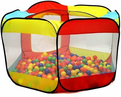 Kiddey Ball Pit Play Tent for Kids 6-Sided Ball Pit for Kids